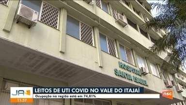 Ocupação de leitos de UTI no Vale do Itajaí está em 74,81% - Ocupação de leitos de UTI no Vale do Itajaí está em 74,81%