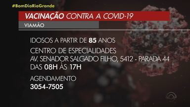 Cidades da Região Metropolitana de Porto Alegre aplicam vacina contra Covid-19 em idosos - Viamão, Canoas, Esteio e São Leopoldo imunizam idosos nesta terça-feira (23).