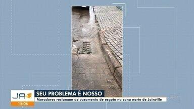 Seu Problema é Nosso: moradores reclamam de vazamento de esgoto na zona norte de Joinville - Seu Problema é Nosso: moradores reclamam de vazamento de esgoto na zona norte de Joinville
