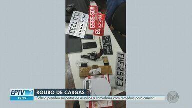 Polícia prende suspeitos de assaltar caminhões com remédios para câncer - Crimes aconteceram em maio e julho de 2020, na Rodovia Anhanguera, em Jardinópolis (SP).