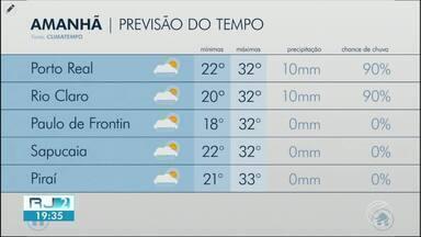 Meteorologia prevê quarta-feira quente na região - Confiram como ficam os termômetros em algumas cidades.