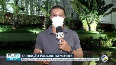 Dupla suspeita de esfaquear jovem é encontrada e presa em Mendes - Eles foram transferidos para a Cadeia Pública de Volta Redonda e vão responder por tentativa de homicídio.