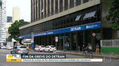 Justiça determina o fim imediato da greve dos servidores do Detran - O Tribunal de Justiça do Rio determinou a volta imediata dos servidores em greve.