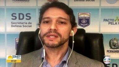 Saiba como vai funcionar a fiscalização nos 63 municípios com restrições em Pernambuco - Secretário de Defesa Social falou sobre reforço na segurança.