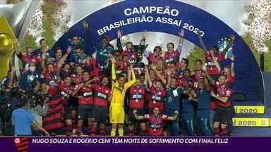 Hugo Souza e Rogério Ceni têm noite de sofrimento com final feliz - Hugo Souza e Rogério Ceni têm noite de sofrimento com final feliz