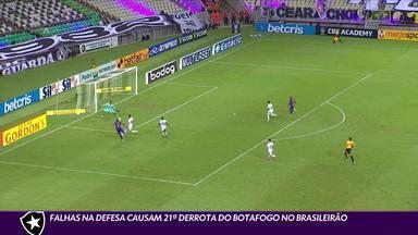 Falhas na defesa causam 21ª derrota do Botafogo no Brasileirão - Falhas na defesa causam 21ª derrota do Botafogo no Brasileirão