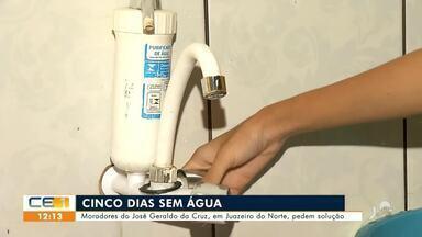 Moradores de bairro de Juazeiro do Norte pedem solução para falta d´água - Saiba mais em g1.com.br/ce