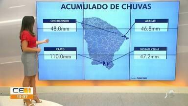 Veja a previsão do tempo para o interior do Estado - Saiba mais em g1.com.br/ce