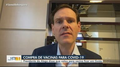 Presidente da Alego fala sobre rateio para compra de vacinas contra a Covid-19 - Segundo Lissauer Vieira, entendimento dos parlamentares é que doses sejam destinadas à população goiana.