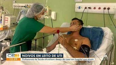 Noivos em leito de UTI desejam casar em hospital que atuam - Saiba mais em g1.com.br/ce