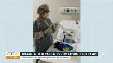 Tratamento de pacientes com Covid-19 no Cariri - Saiba mais em g1.com.br/ce