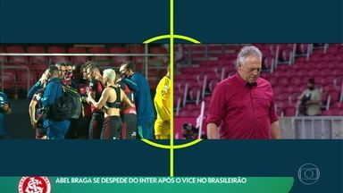Abel Braga se despede do Inter após o vice no Campeonato Brasileiro - Abel Braga se despede do Inter após o vice no Campeonato Brasileiro