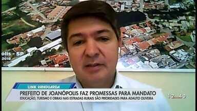 Prefeito de Joanópolis, Adauto Oliveira, faz promessas para o mandato - Ele foi entrevistado pelo Link Vanguarda.