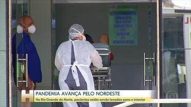 No Rio Grande do Norte, pacientes estão sendo transferidos da capital para o interior - Em Mossoró, segunda maior cidade do estado, já tem não tem leitos de UTI disponíveis.