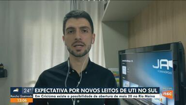 Criciúma espera abrir 20 novos leitos de UTI nos próximos dias - Criciúma espera abrir 20 novos leitos de UTI nos próximos dias