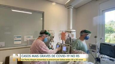Casos graves de Covid: aumenta a procura por leitos entre 30 e 50 anos, em Porto Alegre - O Rio Grande do Sul também vive uma situação dramática nos hospitais e já registra casos mais graves entre a população com menos de 60 anos.