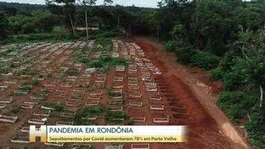 Em Porto Velho, sepultamentos por Covid aumentaram 78% em fevereiro na comparação com janeiro - 100% dos leitos de UTI das redes pública e privada de Rondônioa estão ocupados há 38 dias.