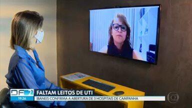 Famílias esperam por leitos de UTI para pacientes com Covid-19 - O governador Ibaneis confirmou, hoje à tarde, em uma rede social, a abertura de três novos hospitais de campanha no DF.