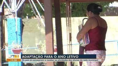 Em Santarém, pais começam a receber atividades dos alunos da rede municipal - Momento é de adaptação para estudantes, pais e professores.