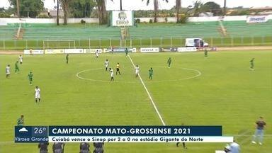 Cuiabá vence o Sinop pelo Mato-grossense de Futebol - Cuiabá vence o Sinop pelo Mato-grossense de Futebol