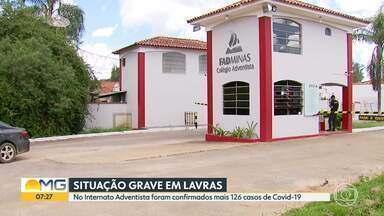 Internato em Lavras, no Sul de Minas, tem mais 126 casos de Covid-19 - Até o momento, 171 pessoas foram infectadas.