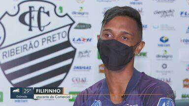 Filipinho comemora boa estreia do Comercial na Série A3 do Campeonato Paulista - Atacante marcou gol contra o Primavera na primeira rodada.