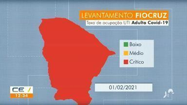 Ceará está há um mês em alerta crítico de ocupação de leitos para Covid-19 - Saiba mais em g1.com.br/ce