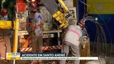 Madrugada registra dois acidentes na Grande SP - Uma pessoa morreu em Osasco e outra ficou ferida em Santo André.