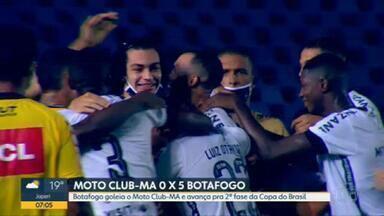 Botafogo goleia por 5 x 0 na Copa do Brasil em jogo com narração inédita - Renata Silveira foi a 1ª mulher a comandar uma transmissão no Grupo Globo; estreia foi na goleada do alvinegro carioca contra o Moto Club-MA
