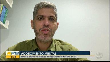 Adoecimento mental é a terceira maior causa de afastamento de trabalho, em João Pessoa - Especialista fala sobre alta no número de adoecimento mental