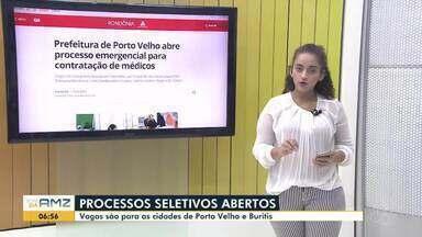 Jheniffer Núbia traz os destaques do G1 Rondônia - Entre eles as vagas de emprego e concurso público em aberto.