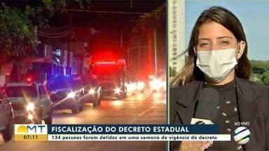 134 pessoas são detidas em 1 semana por descumprirem decreto do Estado em Mato Grosso - 134 pessoas são detidas em 1 semana por descumprirem decreto do Estado em Mato Grosso