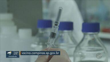 Taxa de vacinação de idosos de 77 a 84 anos é de 48% em Campinas - Prefeitura ressalta importância de fazer inscrição para receber a imunização.