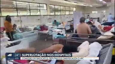 Maioria dos hospitais públicos tem 100% de ocupação nos leitos de UTI para Covid-19 - Hoje de manhã, no Hospital Regional de Ceilândia, uma força-tarefa de parlamentares, sindicatos e OAB encontrou pacientes internados até dentro do banheiro.