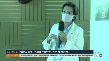 'Alerta é para uma situação assustadora de colapso', afirma prefeita de Ponta Grossa - Professora Elizabeth (PSD) ainda falou em 'dias de grande tristeza e dor com aumento significativo no número de mortos'.