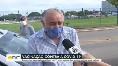 Prefeitura de Rio Branco vacina idosos de 71 anos para a Covid-19 - Prefeitura de Rio Branco vacina idosos de 71 anos para a Covid-19