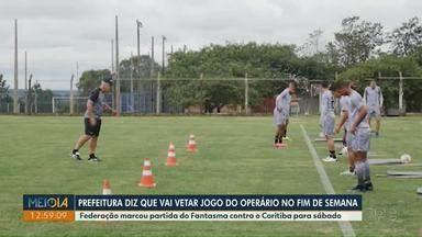 Operário joga contra o Coritiba no sábado (13) - Federação antecipou rodada do Campeonato Paranaense.