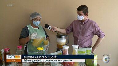 'Suchá': Mistura de suco de frutas com ervas faz sucesso no Sertão de PE - Além de ser delicioso e proporcionar momentos de satisfação, ele pode trazer inúmeros benefícios à saúde. Aprenda a fazer a bebida.