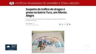 Prisão de envolvidos com tráfico de drogas em Monte Alegre é destaque no G1 - Confira a informação completa no portal.