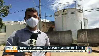 Moradores do bairro Santo Agostinho, em Valadares, ficam sem água após furto - Já na Ilha dos Araújos, bomba foi desligada para manutenção preventiva.