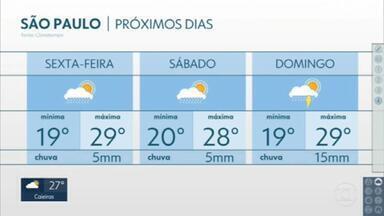 Chuva diminui nos próximos dias - Previsão vale para toda a Grande São Paulo.