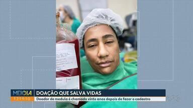 Doador de medula é chamado vinte anos depois de fazer o cadastro - Durante a pandemia diminuiu muito o número de doadores. Dulcinéia Novaes traz história inspiradora de uma atitude que salvou uma vida.