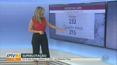 Em dois dias, 17 leitos de UTI foram abertos em Ribeirão Preto, SP - Mesmo assim, todos os hospitais estão superlotados.