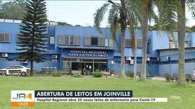 Hospital Regional de Joinville abre 33 novos leitos de enfermaria para Covid-19 - Hospital Regional de Joinville abre 33 novos leitos de enfermaria para Covid-19