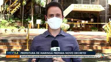 Maringá prepara novo decreto, mantendo várias restrições - Veja o que já foi divulgado sobre o novo documento.