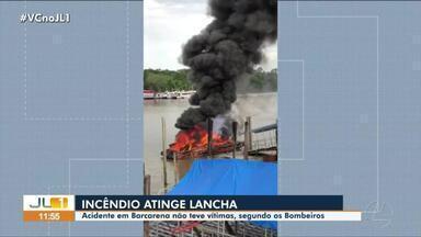 Incêndio atinge embarcação em Barcarena, mas não deixa feridos - Incêndio atinge embarcação em Barcarena, mas não deixa feridos