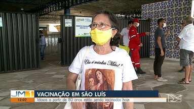Idosos a partir de 80 anos estão sendo vacinados nesta sexta-feira (12) - O município de São Luís recebeu cinco mil trezentas e oitenta doses de vacina contra a Covid-19.