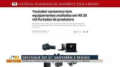 Roubo de equipamentos avaliados em R$ 20 mil é notícia em destaque no G1 Santarém e região - Acesse a reportagem completa no g1.com.br/tvtapajos.