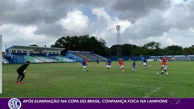 Após eliminação na Copa do Brasil, Confiança foca na Copa do Nordeste - Dragão vai enfrentar o ABC neste sábado, fora de casa, pela terceira rodada da competição regional.
