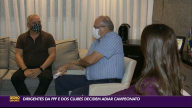 Entendo os motivos do adiamento do Campeonato Paraibano de 2021 - Competição vai começar no dia 31 de março